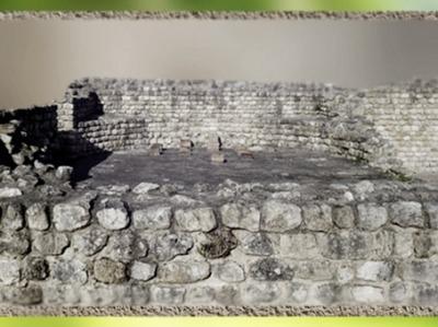 D'après les vestiges des bains antiques du Fâ, Barzan, Gaule Romaine, Barzan, Charente, France. (Marsailly/Blogostelle)