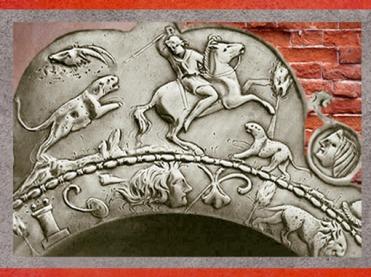 D'après une scène de chasse sur un plat en argent, Ier -IVe siècle apjc, France, Gaule Romaine. (Marsailly/Blogostelle)
