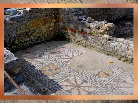 D'après la villa Montmaurin, sol mosaïque, Midi-Pyrénées, IVe siècle apjc, Gaule Romaine. (Marsailly/Blogostelle)