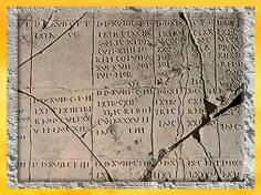 D'après le cadastre d'Orange, Ier siècle apjc, Vaucluse, France,Gaule Romaine. (Marsailly/Blogostelle)