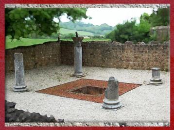 D'après la villa Montmaurin, l'atrium, Midi-Pyrénées, IVe siècle apjc,France,Gaule Romaine.(Marsailly/Blogostelle)