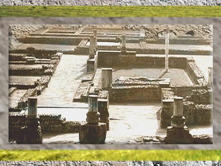 D'après la villa Vieux-la-Romaine, vestiges, Normandie, IIe-IIIe siècle apjc, France, Gaule Romaine. (Marsailly/Blogostelle)