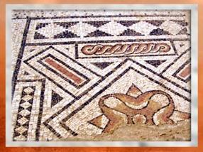 D'après un décor mosaïque, villa Vieux-la-Romaine, Normandie, IIe-IIIe siècle apjc, Gaule Romaine. (Marsailly/Blogostelle)
