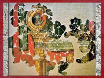 D'après une peinture murale, vicus de Famars, Valencienne, IIe-IIIe siècle apjc, Gaule Romaine. (Marsailly/Blogostelle)