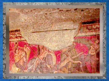 D'après le décor de la Villa des Mystères, Pompéi, Italie, art romain. (Marsailly/Blogostelle)