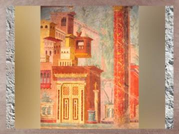 D'après les peintures murales de la villa Boscoréale, Italie, art romain. (Marsailly/Blogostelle)