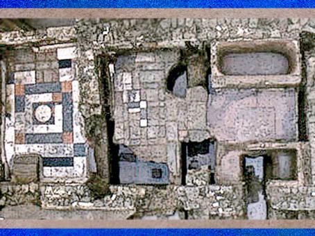 D'après la villa Damblain, salle de bain, Vosges, IIe-IIIe siècle apjc, Gaule Romaine. (Marsailly/Blogostelle)