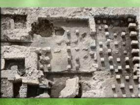 D'après la villa Jonsac, thermes, Charente, IVe siècle apjc, Gaule Romaine. (Marsailly/Blogostelle)