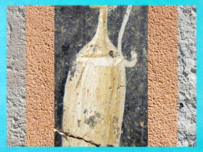 D'après un motif d'amphore, villa d'Embourie, vers IVe siècle apjc, Charente, France,Gaule Romaine. (Marsailly/Blogostelle)