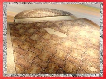 D'après un pavementde mosaïque, villa de Plassac, Ier - début Ve siècle apjc, Gironde, France,Gaule Romaine. (Marsailly/Blogostelle)
