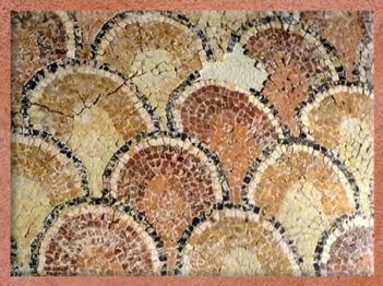 D'après une mosaïque, détail, villa de Plassac,Ier - début Ve siècle apjc, Gironde, France,Gaule Romaine. (Marsailly/Blogostelle)