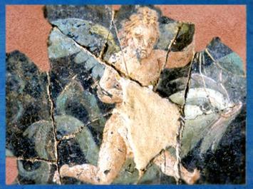 D'après un fragment de mosaïque, villa de Plassac,Ier - début Ve siècle apjc, Gironde, France,Gaule Romaine. (Marsailly/Blogostelle)