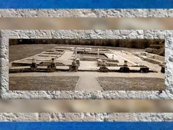 D'après les vestiges de la villa Vieux-la-Romaine, IIe-IIIe siècle apjc, Normandie, France,Gaule Romaine. (Marsailly/Blogostelle)