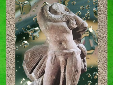 D'après une sculpture du Roi Nâgâ, école de Mathurâ, époque Kushâna, IIe siècle apjc, Inde ancienne du Nord. (Marsailly/Blogostelle)