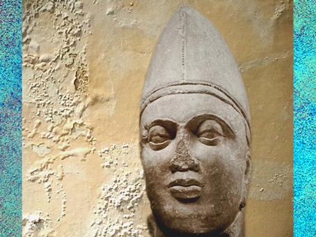 D'après le portrait d'un guerrier asiatique, IIe siècle apjc, époque Kushâna, Mathurâ, Uttar Pradesh, Inde du Nord. (Marsailly/Blogostelle)