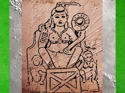D'après Lakshmî, déesse Abondance et Fortune, haut relief, école de Mathurâ, Ier-IIe siécle apjc, Uttar Pradesh, D'après Agni, école de Mathurâ, Inde du Nord. (Marsailly/Blogostelle)