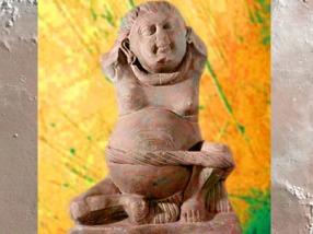 D'après le dieu de la Richesse, Kubera, école de Mathurâ, IIe siècle apjc, époque Kushâna, Uttar Pradesh, Inde du Nord. (Marsailly/Blogostelle)