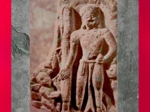 D'après le dieu hindou Vishnu, sculpture de l'école de Mathurâ, Ier-IIe siècle apjc, dynastie Kushâna, Uttar Pradesh, Inde ancienne du Nord. (Marsailly/Blogostelle)
