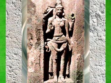 D'après Shiva androgyne, Ier- IIe siècle apjc, période Kushâna, Inde du Nord. (Marsailly/Blogostelle)