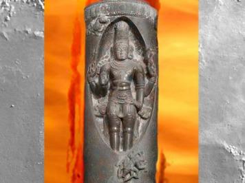 D'après Shiva qui émerge du Linga, temple Airavatesvara, XIe -XIIe siècle, époque Chola, Dharasuram, Inde médiévale du Sud. (Marsailly/Blogostelle)