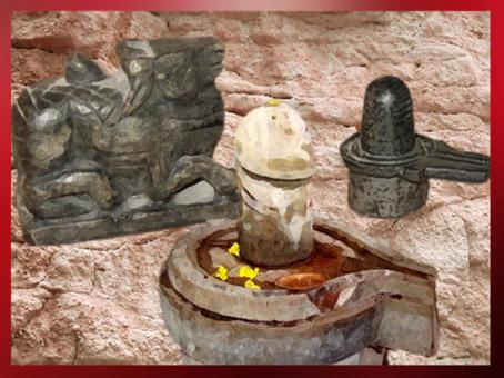 D'après le Taureau Nandi de Shiva et les symboles masculin et féminin du Linga et de la Yoni, culte de Shiva, tradition hindoue. (Marsailly/Blogostelle)