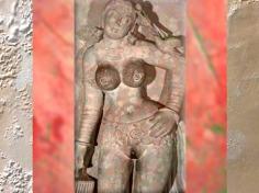 D'après une jeune femme au perroquet, vers IIe siècle apjc, dynastie Kushâna, école de Mathurâ, Uttar Pradesh, Inde du Nord. (Marsailly/Blogostelle)