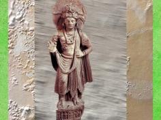 D'après un Boddhisattva, Ier- IIIe siècle apjc, Gandhâra, époque Kushâna en Inde du Nord. (Marsailly/Blogostelle)