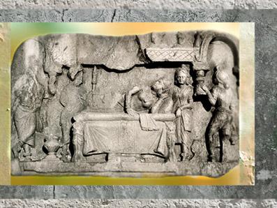 D'après Le Rêve de Maya, dynastie Kushâna, IIe siècle apjc, Inde du Nord. (Marsailly/Blogostelle)