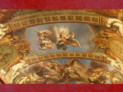 D'après Aurore et les Dioscures, fresque deFrançois Perrier,Galerie Dorée, Hôtel de Toulouse (Banque de France), Paris. (Marsailly/Blogostelle)