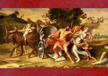 D'après L'Enlèvement de Proserpine par Pluton, fresque de François Perrier,Galerie Dorée, Hôtel La Vrillière-Toulouse (banque de France),Paris, France, XVIIe siècle. (Marsailly/Blogostelle)