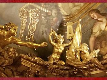D'après la Galerie Dorée, mise en scène des Regards, décors de François-Antoine Vassé, Hôtel de Toulouse (Banque de France), Paris, France, XVIIIe siècle. (Marsailly/Blogostelle)