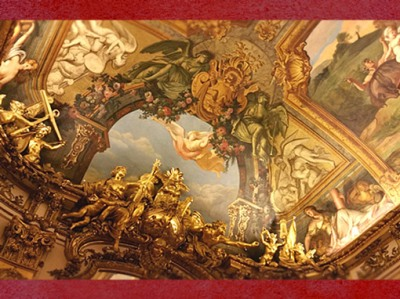 D'après les décorations de la Galerie Dorée, Hôtel de Toulouse (Banque de France),Paris, France, XVIIIe siècle. (Marsailly/Blogostelle)