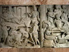 D'après Le Rêve de la reine Maya, Amarâvatî, IIe siècle apjc, dynastie Sâtavahâna, Andhra Pradesh, Inde du Sud. (Marsailly/Blogostelle)
