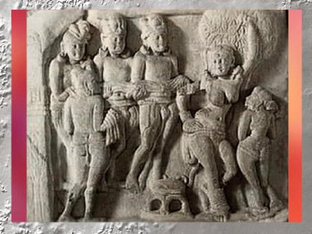 D'après la Reine Maya, relief, Amaravatî, Ier - IIe siècle apjc, dynastie Sâtavâhana, Andhra Pradesh, Inde du Sud. (Marsailly/Blogostelle)