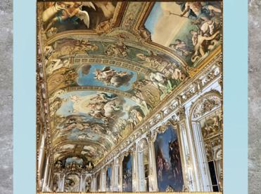 D'après la Galerie Dorée, voûte de François Perrier, Hôtel de Toulouse (Banque de France), Paris, France, XVIIIe siècle. (Marsailly/Blogostelle)