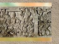 D'après la Descente du Buddha, détail, IIe siècle apjc, Amarâvatî, Andhra Pradesh, Inde du Sud. (Marsailly/Blogostelle)
