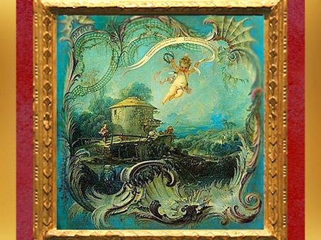 D'après Pastorale ou Jeune berger dans un paysage (1739 - 1745), style Rocaille, François Boucher,France, XVIIIe siècle.(Marsailly/Blogostelle)