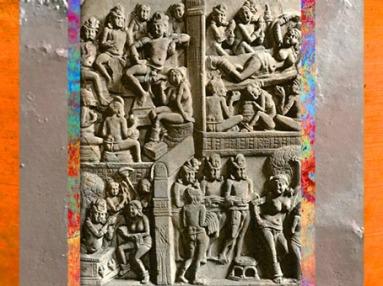 D'après des épisodes de la Naissance du Buddha, IIe siècle apjc, Amarâvatî, Andhra Pradesh, Inde du Sud. (Marsailly/Blogostelle)