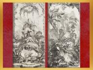 D'après Léda et Rocaille, gravures de Claude Duflos le Jeune, d'après François Boucher,France. (Marsailly/Blogostelle)