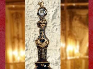D'après le Régulateur (horloge) d'André Charles Boulle, vers 1720 apjc, pour l'hôtel de Toulouse, Paris. (Marsailly/Blogostelle)