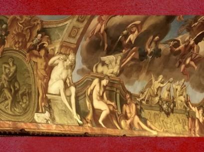 D'après Saturne et sa faux (le Temps) et les Eaux du Verseau, Galerie Dorée,François Antoine Vassé, Hôtel de Toulouse, Paris. (Marsailly/Blogostelle)