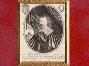 D'après un portrait de Louis Phélypeaux de la Vrillière, sur une estampe de Balthazar Montcornet, 1654 apjc, XVIIe siècle. (Marsailly/Blogostelle)