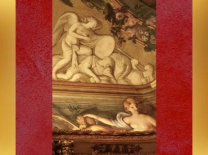 D'après les peintures de la Galerie Dorée,inspirées par le monde Antique,l'Abondance et ses pièces d'or...Hôtel de Toulouse (Banque de France), Paris. (Marsailly/Blogostelle)