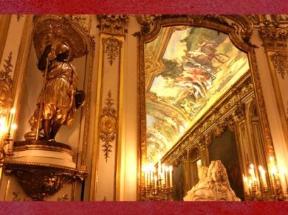 D'après la Galerie Dorée, Hôtel de Toulouse, Allégorie de l'Europe et buste de Mansart, Paris. (Marsailly/Blogostelle)