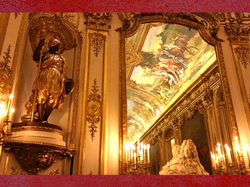 D'après la Galerie Dorée, Hôtel de Toulouse, Allégorie de l'Europe et buste de Mansart, Paris, France, XIXe siècle. (Marsailly/Blogostelle)