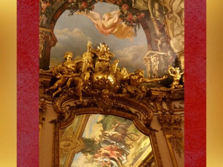 D'après le décor de la Galerie Dorée, Victoire de la Marine, Hôtel de Toulouse (Banque de France), France. (Marsailly/Blogostelle)