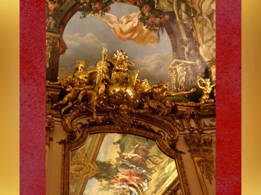 D'après le décor de la Galerie Dorée, Victoire de la Marine, Hôtel de Toulouse (Banque de France), Paris. (Marsailly/Blogostelle)