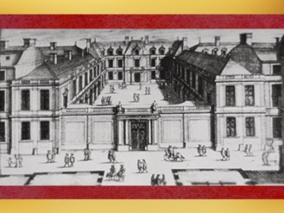 D'après l'hôtel de La Vrillière, construit par François Mansart, dessin de Jean Marot, 1650 apjc. (Marsailly/Blogostelle)