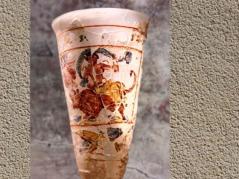 D'après L'Enlèvement d'Europe, verre émaillé, Ier siècle apjc, trésor de Bégram, Ie siècle apjc -IIe siècle apjc, dynastie Kushâna en Inde du Nord. (Marsailly/Blogostelle)