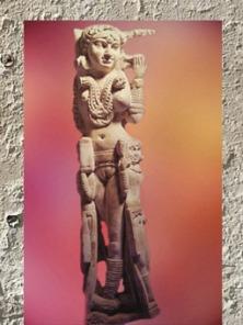 D'après une princesse et sa servante, ivoire trésor de Bégram, Ie siècle apjc -IIe siècle apjc, dynastie Kushâna en Inde du Nord. (Marsailly/Blogostelle)
